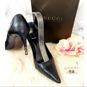 Authentic GUCCI Bamboo Pointed toe pump heels 7.5